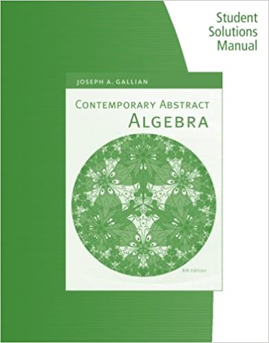 solution manual for contemporary abstract algebra