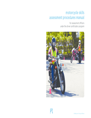 icbc motorcycle skills assessment procedures manual