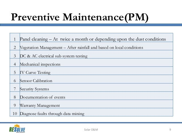 solar power plant operation and maintenance manual