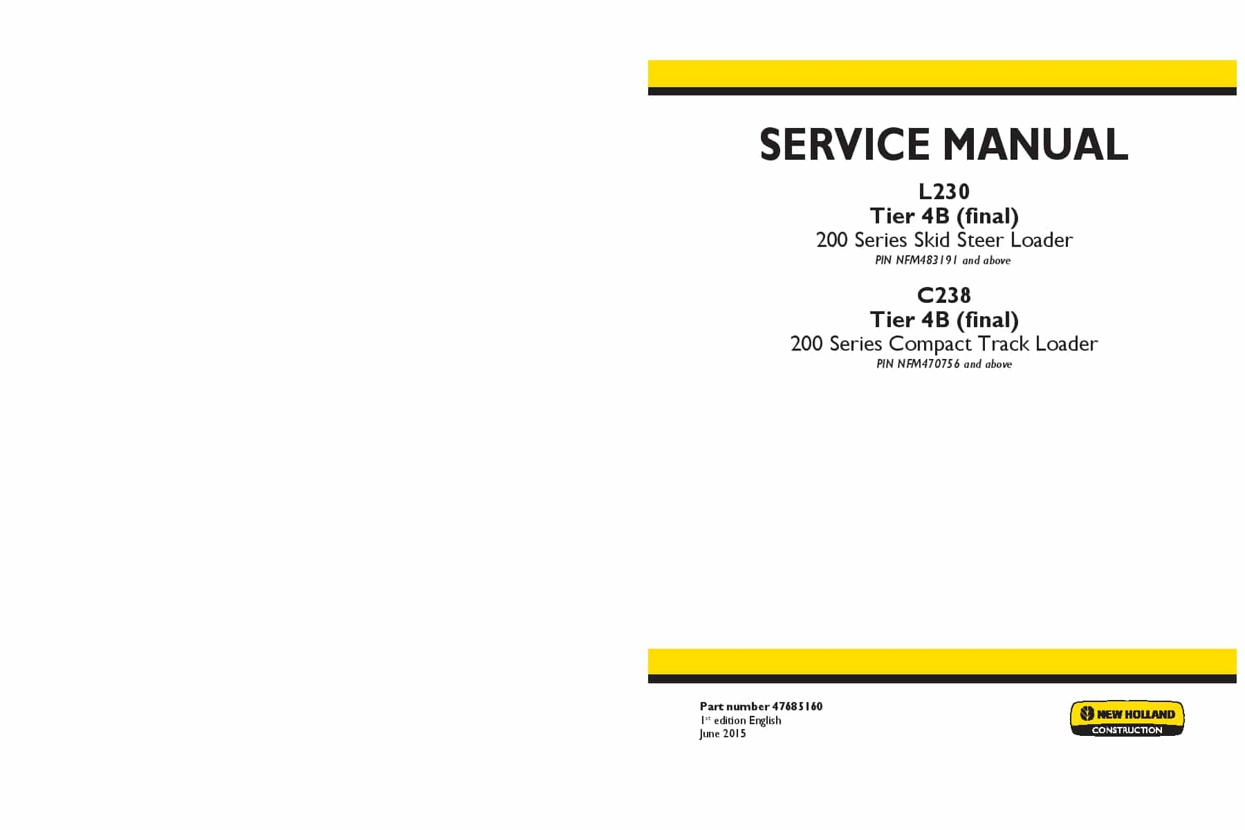 new holland l230 owners manual