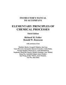 elementary principles of chemical processes 3rd edition solutions manual pdf