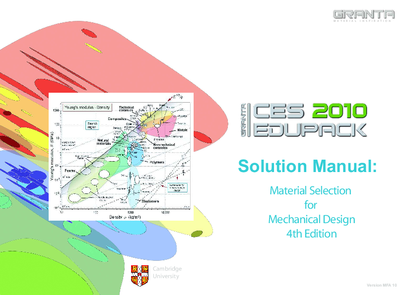 material selection in mechanical design solution manual